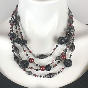 3 FOR $20  Multi Strand Pearl Beaded Necklace